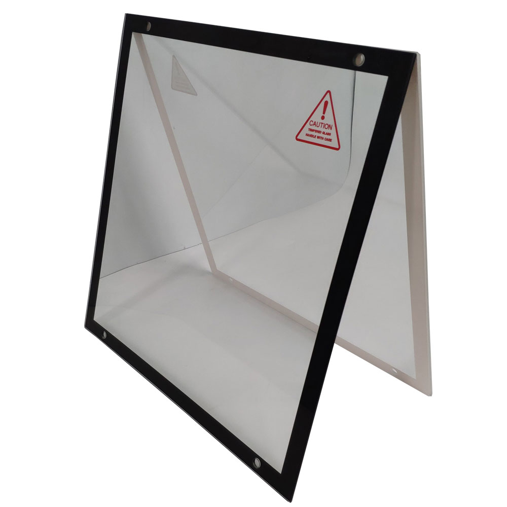 3mm Color super white tempered glass panel with silk screen