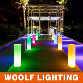 Lighting Pillars Led Glowing For Events Cylinder Lamp