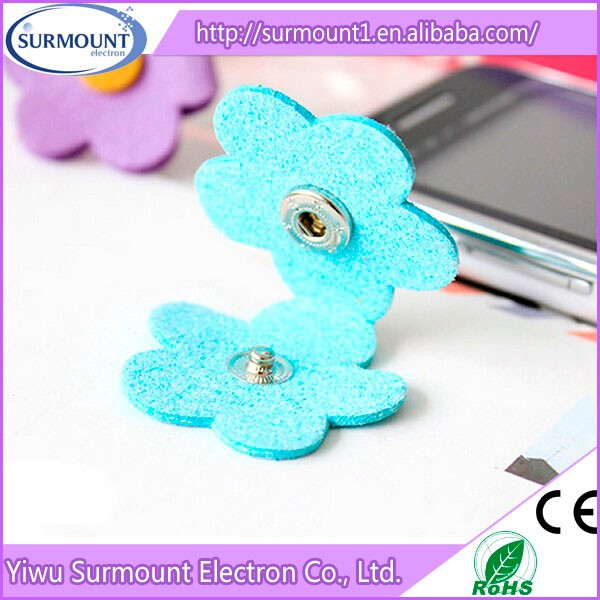 Colorful earphone cable tidy winder earphone cord flower shape cable winder