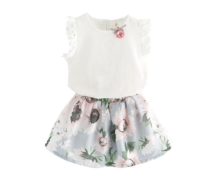 Girls boutique clothing sets two-piece clothes