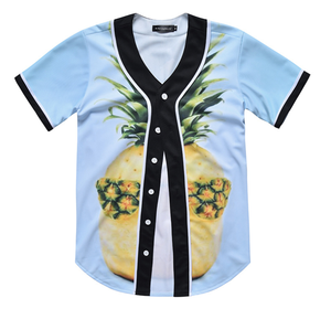 Custom Dye Sublimation Printing Baseball Wear Men's Fashion button down Baseball jersey
