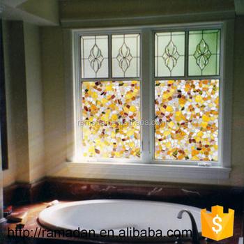 Home Glass Film Window Decorative Window Sticker Static Glass Window Film Mosaic Frosted Pvc Film No Glue 45 90cm Buy Decorative Window Sticker Home