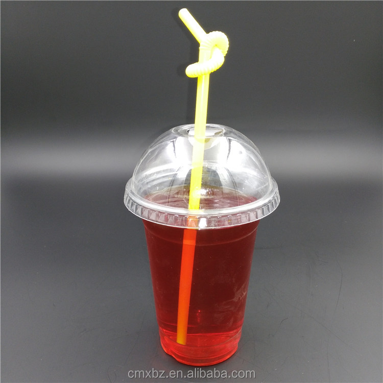 400ML juice PET disposable plastic one time use cup