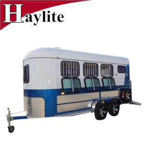 china gooseneck 2 horse trailer