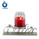Metal Wonder and Stars Pillar Candle Holder