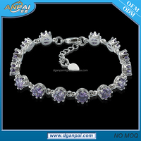 2017 Fashion Costume Jewelry Imported Bracelets China Girls Online Shopping for Women with Amethyst Diamonds