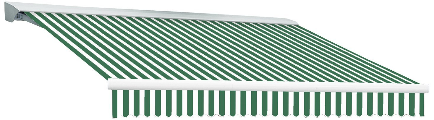 Awntech 8-Feet Destin-LX Manual Retractable Awning, 84-Inch, Forest/White