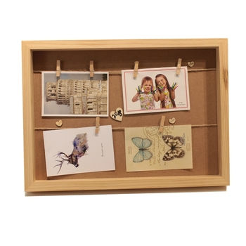 Cheap natural MDF custom photo frame Wall Hanging Decor DIY wholesale frame