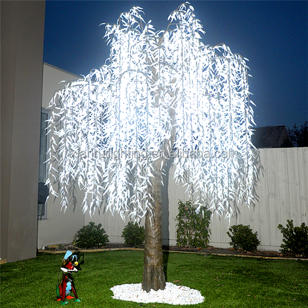 Best selling led willow tree light artificial tree for garden/street decoration