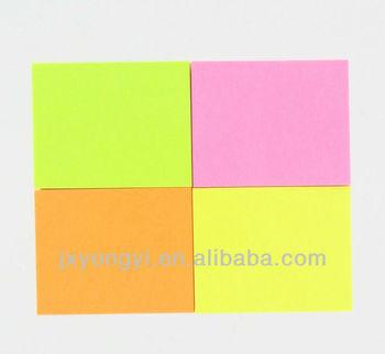 Neon Paper Stick Note