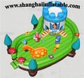 2016 POPULAR indoor and outdoor inflatable playground Kids inflatable bouncer obstacle inflatable island for children