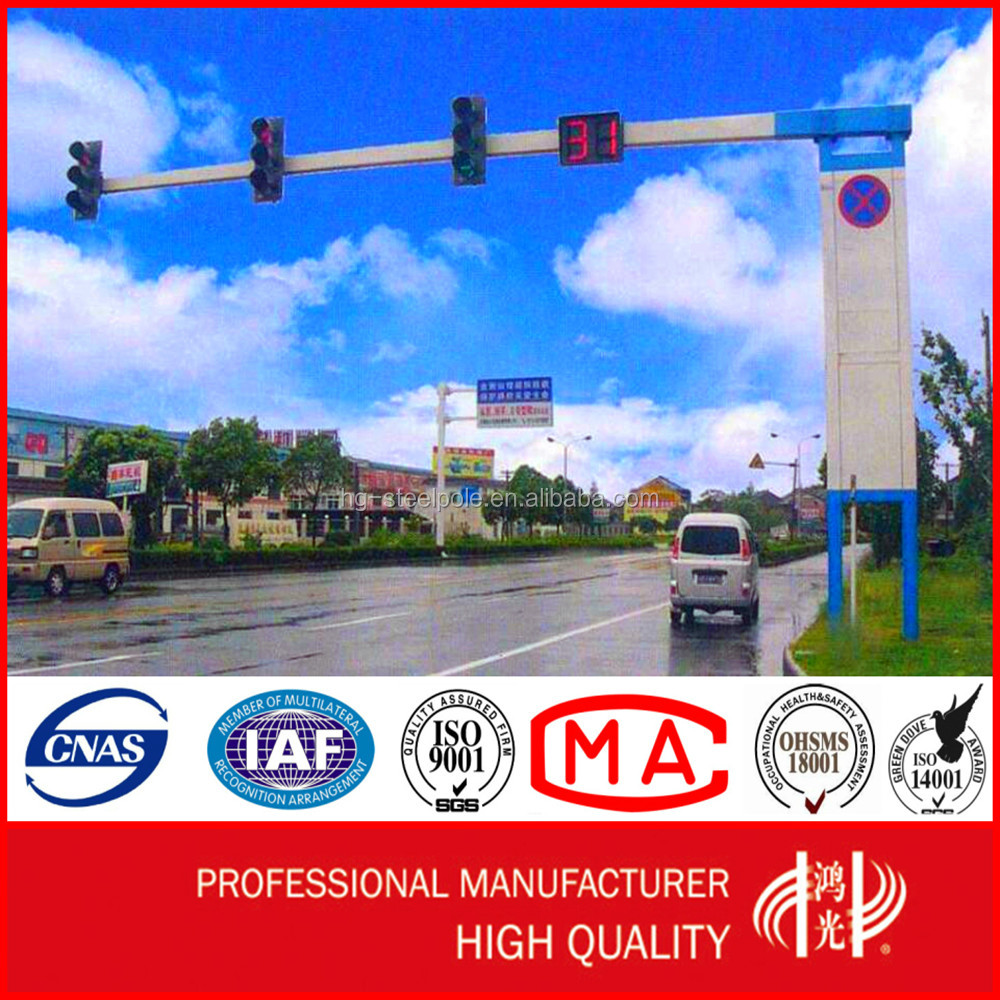 High Quality Steel Galvanized Traffic Sign Pole for Road
