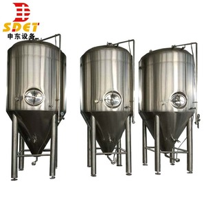 plant whole set 1000l beer brewing cylindrical fermentation tank