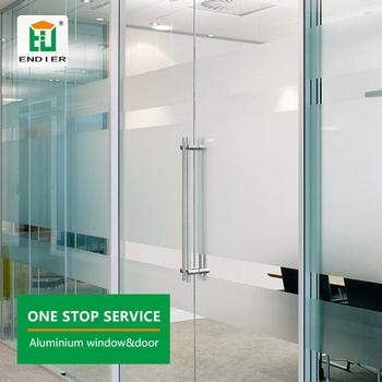 Office Glazing Swing Doors Frost Glass Aluminium Office Doors