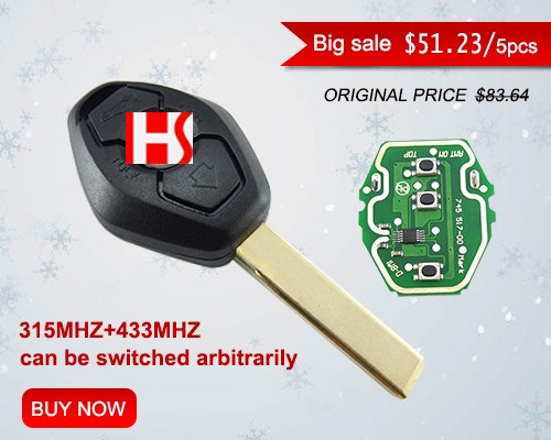 High quality for Christmas car 2 Track 3 Button Remote Key with 315Mhz and 433Mhz arbitrary switching for auto key 021580