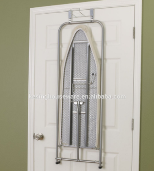 Mesh top ironing boarding over door