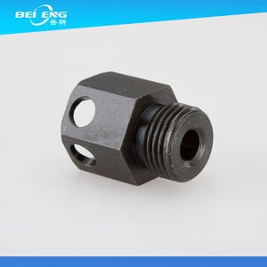 Custom Black anodized CNC machined hydraulic fitting with 10 experience in machining industry