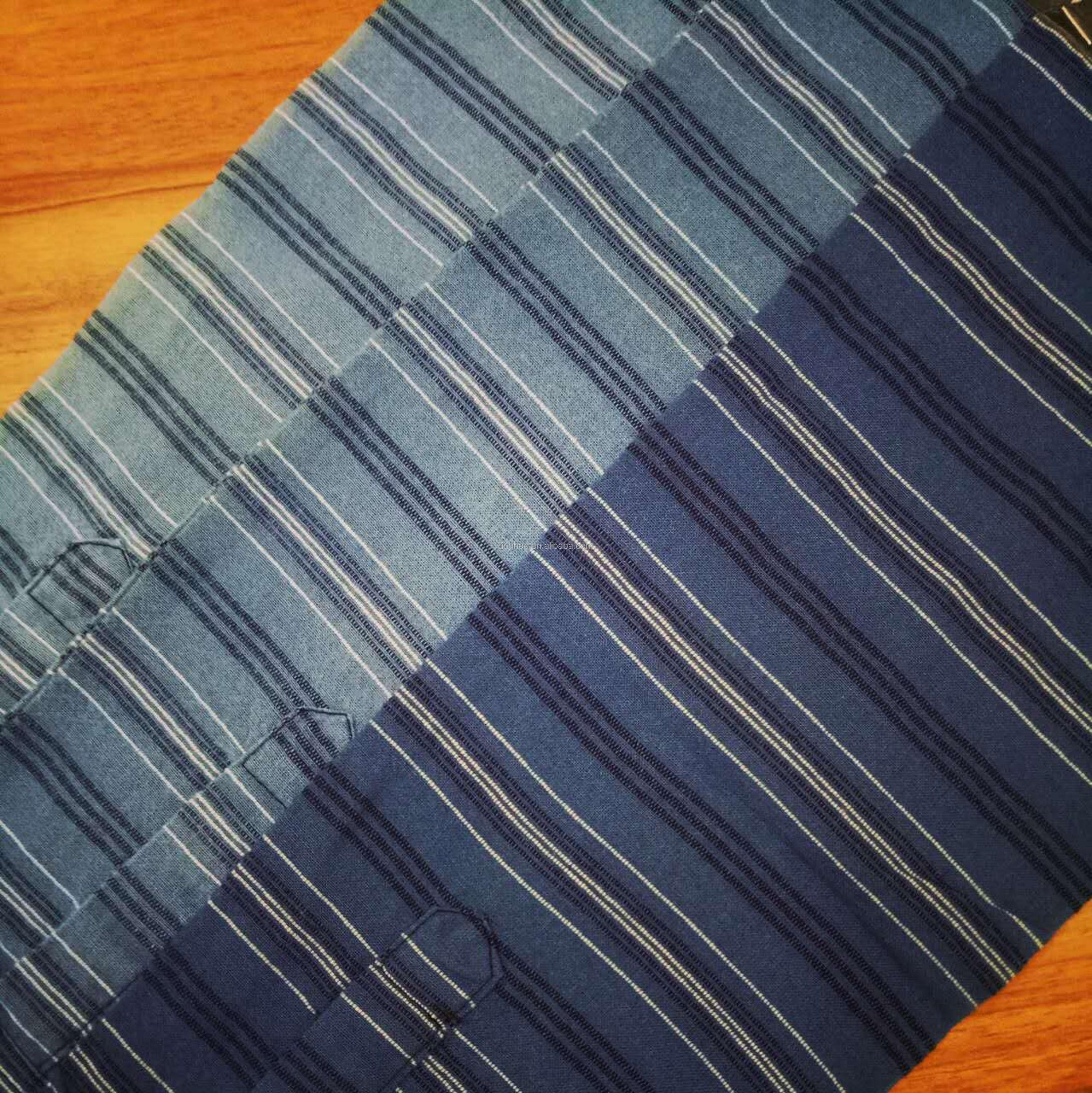 100% cotton indigo yarn dyed shirting fabric manufacturer