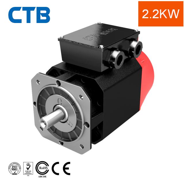 2.2kw ac cnc de alta frecuencia servo asíncrono del motor del husillo