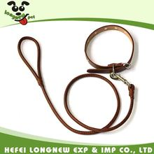 High Quality Dog Leads Real Leather Dog Collars and Leashes