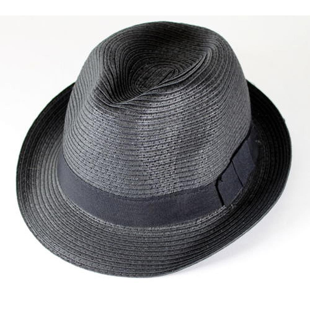 0678f2b11e3 Get Quotations · Straw Hat Fedora - Panama Trilby Style Packable Crushable  Summer Sun Mens Ladies