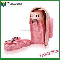 Leather Cartoon Camera Case Bag for Fujifilm Fuji Instax Mini8 , Pink Color