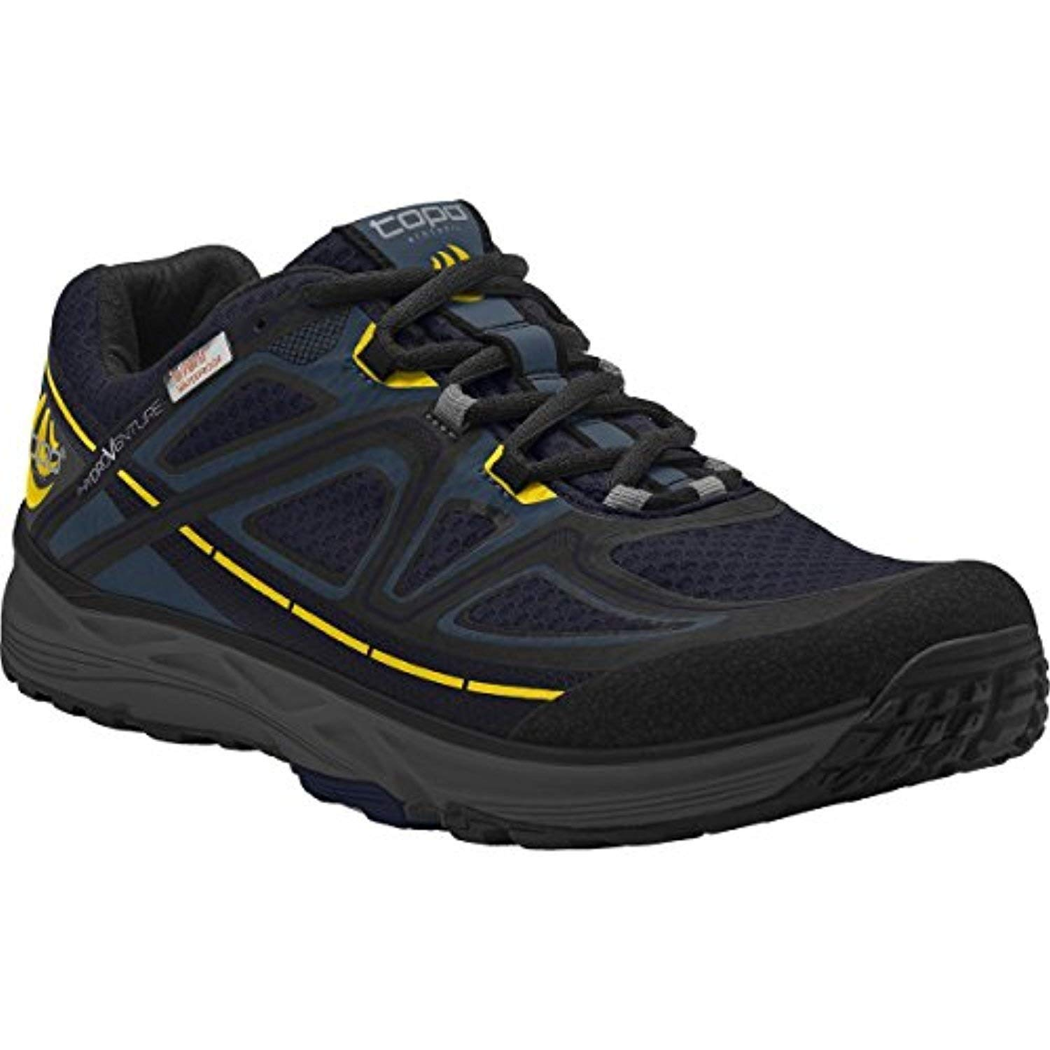 Topo Men's Hydroventure Trail Running Shoes Navy/Black 10 & Headband