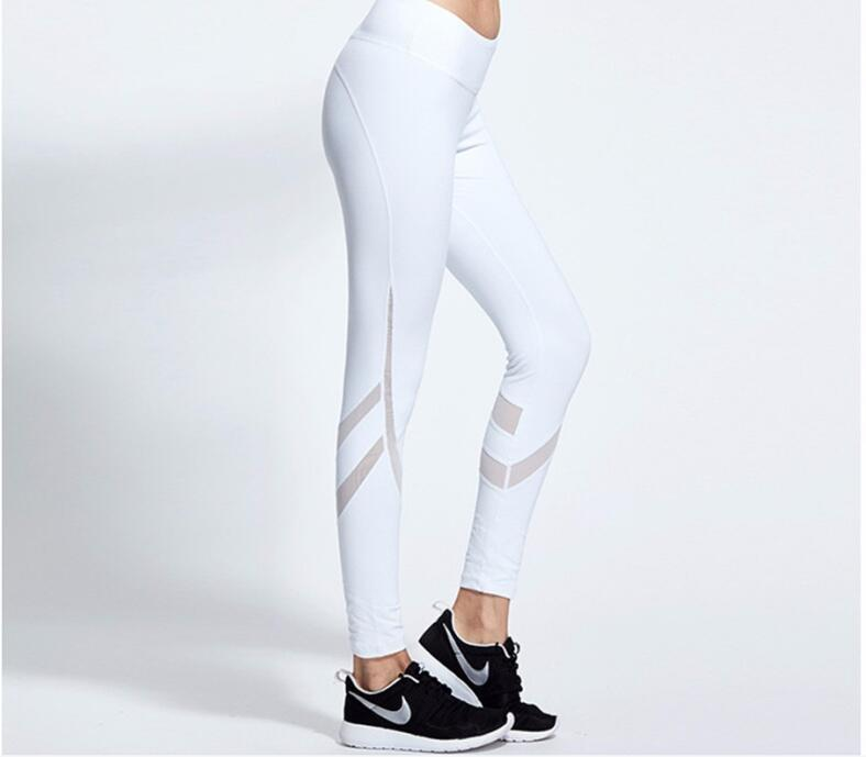 White yoga pants naked