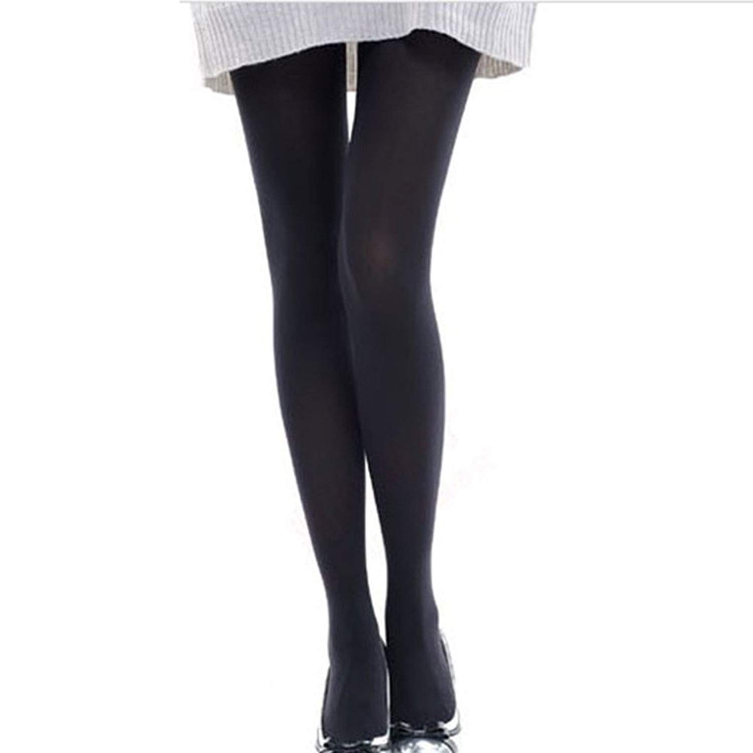 6c31bcc2863 Get Quotations · Vinmax New Women s Microfibre Tights Velvet Pantyhose  Opaque Tights with Control-Top Black