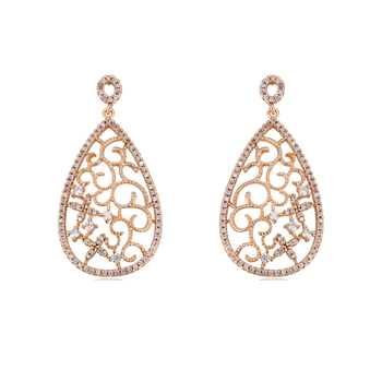 95422 xuping china goods online selling fashion tear drop style noble 18k gold plated dangle earring
