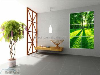 2016 D Art Led Panneau Lumineux Fenêtre Virtuelle Nature D Intérieur