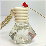 New design 5ml Drop-shaped Stainless steel hanging car diffuser perfume bottle for essential oil use