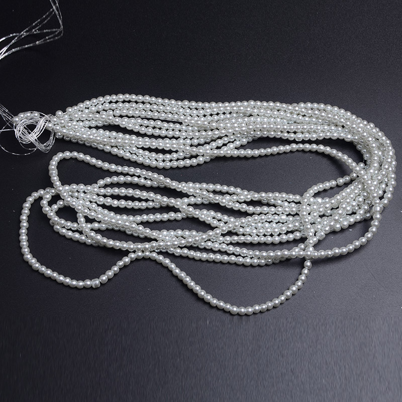 Hotselling DIY Jewelry YiWU Factory Loose Beads 8mm Lt. Grey Glass Beads Strand Faux Pearl Beads Glass Wholesale