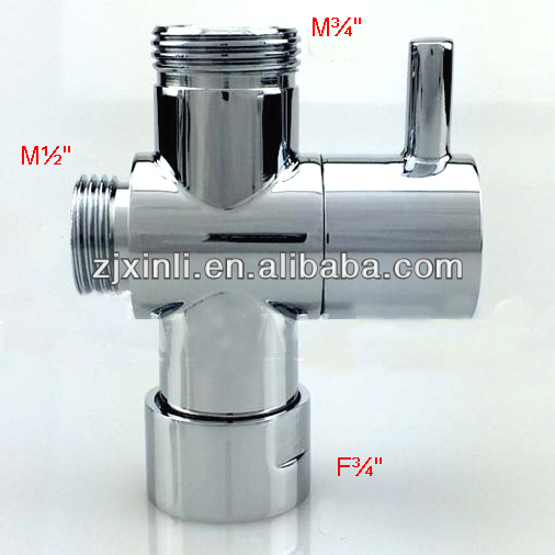 Brass Bath Shower Diverter Valve, Shower Kit Water Separate Water Diverter, M3/4