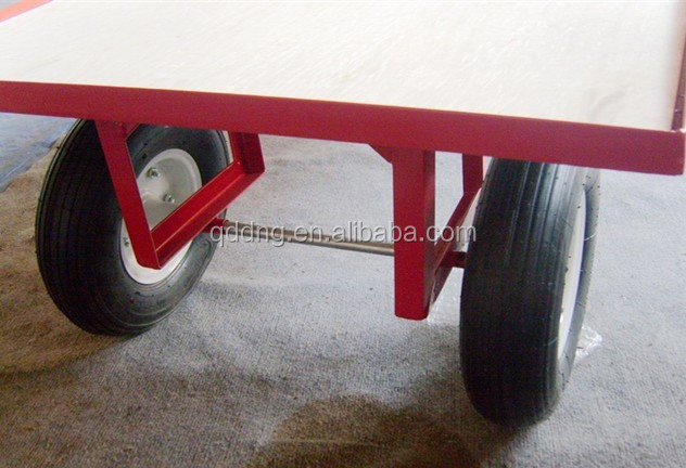 Heavy Duty Hand Drawn Turn Table Trucks Platform hand truck