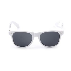 Factory supply fashionable white plastic sunglasses for gifts