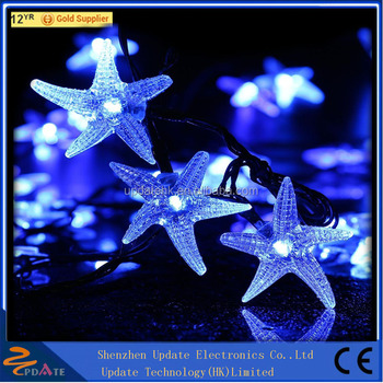 Factory Price Holiday Decoration Solar Star String Lights With 30 Led Falling For Garden Party
