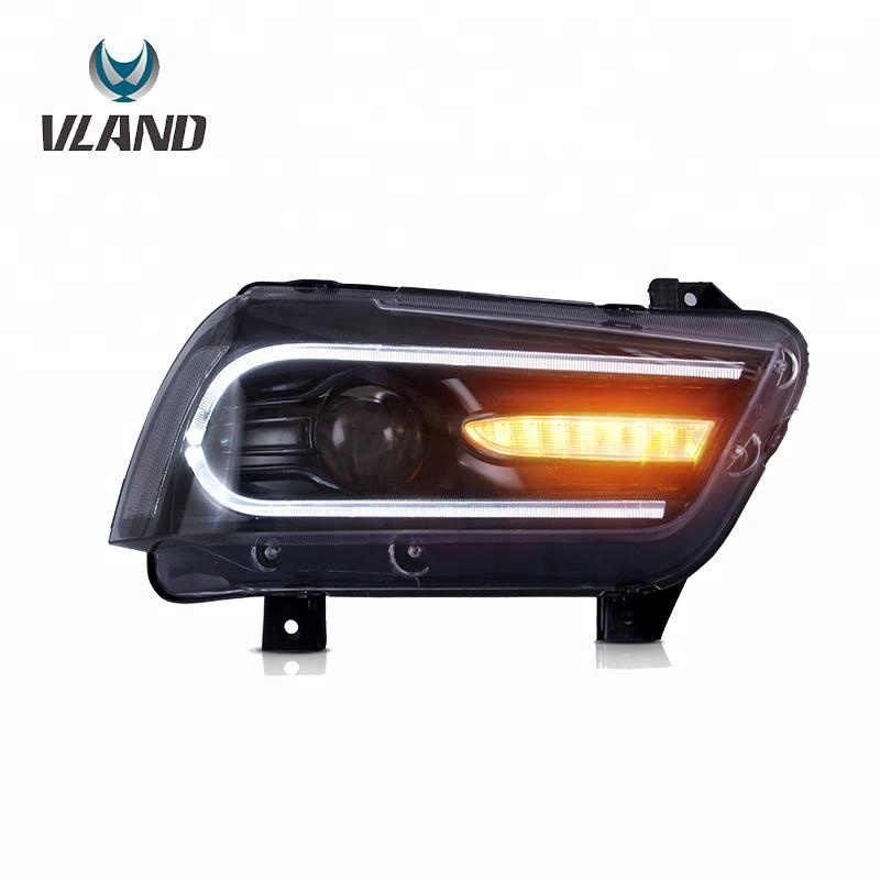 Atualizado LED Faróis 2008-2014 Dodge Charger SXT (100th Anniversary Edition) Head Lamp