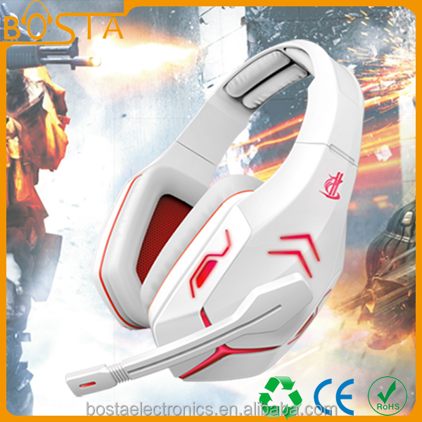 2017 wholesale hot selling unique stylish gaming headset with factory price