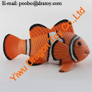 TPR soft toy gold fish, mini plastic fish toy