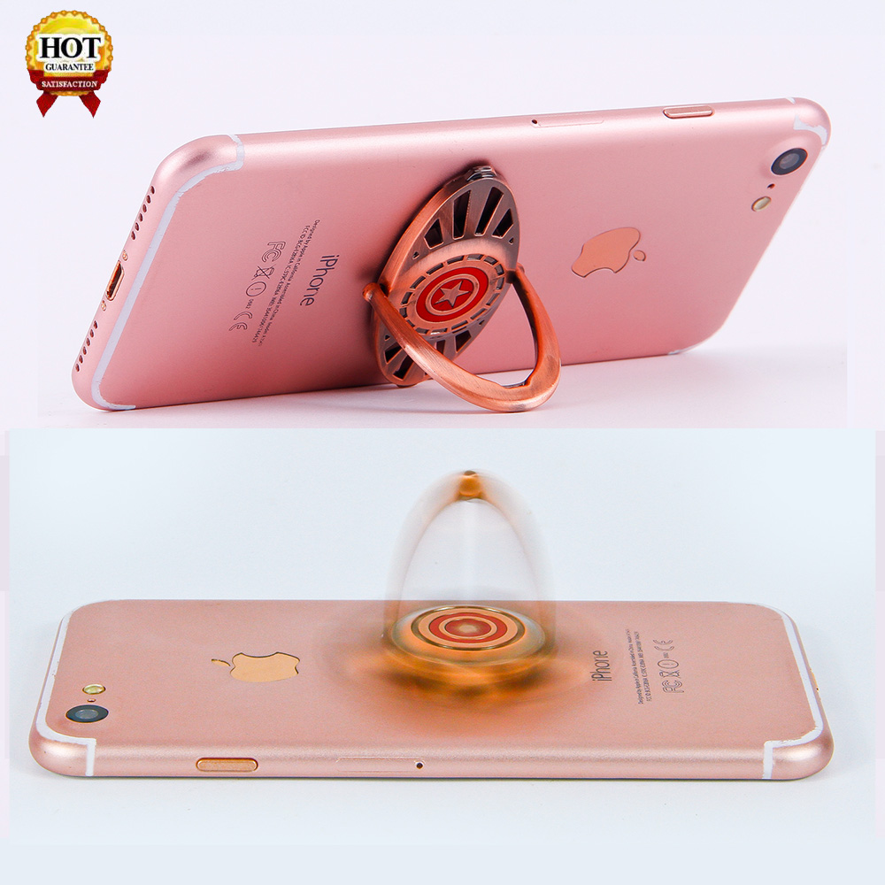New Phone 360 Ring Holder Wind Gyro Aluminum Gear Finger Spinner Toys Supplier Metal Alloy Hand Fidget Spinner