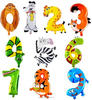 20 inch aluminum foil animals shape number balloons party birthday wedding decoration