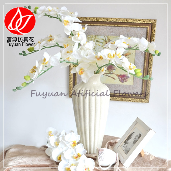 140980 White Color Home Decor Cheap Wholesale Artificial Silk Vision Flowers Orchid