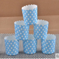 Blue Middle Size High Temperature Paper Baking Cups Paper Muffin Cups Cupcake Liners Wrappers Cases Ice Cream Cups