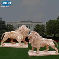 front door decorative natural stone carved lion sculpture