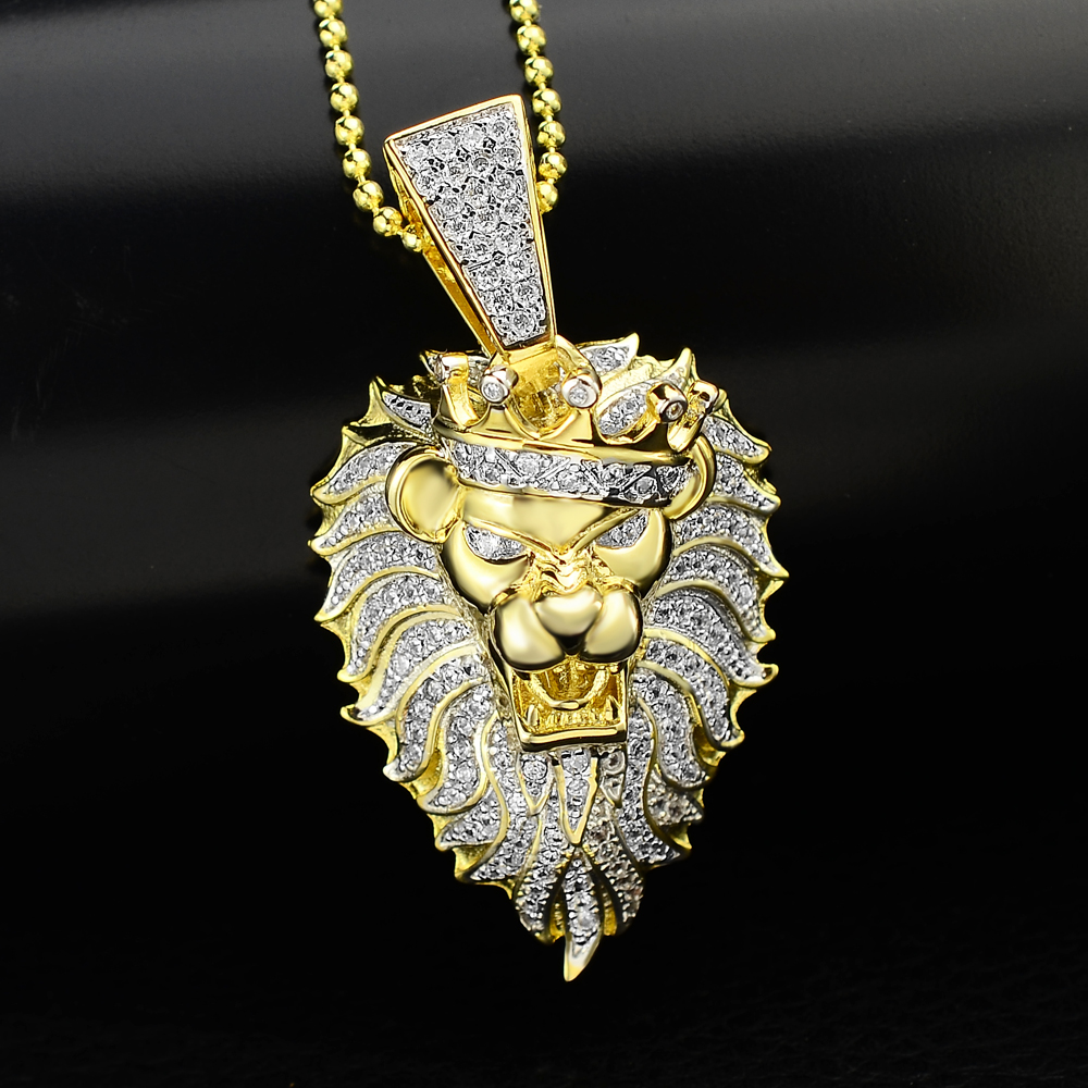 Custom pendant designs men 18k gold plated copper alloy lion pendant custom pendant designs men 18k gold plated copper alloy lion pendant micro pave hip hop jewelry aloadofball Image collections