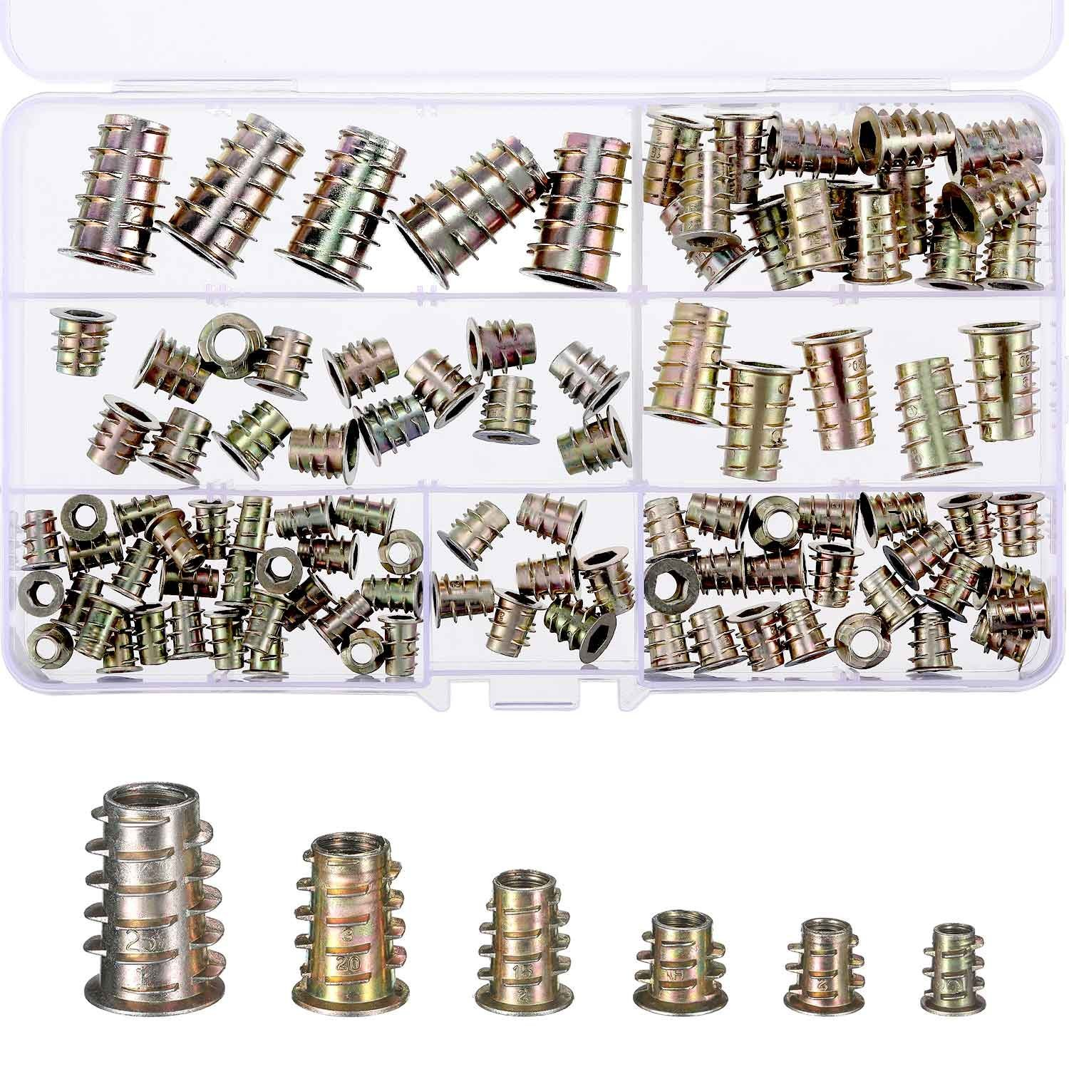 Baby Bed Crib Screws Hardware Replacement Kit 6-Set M6x18 mm Stainless Steel Hex Socket Head Bolt and Barrel Nuts