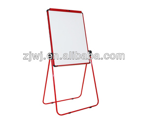 Double sided adjustable flip chart painting board stand