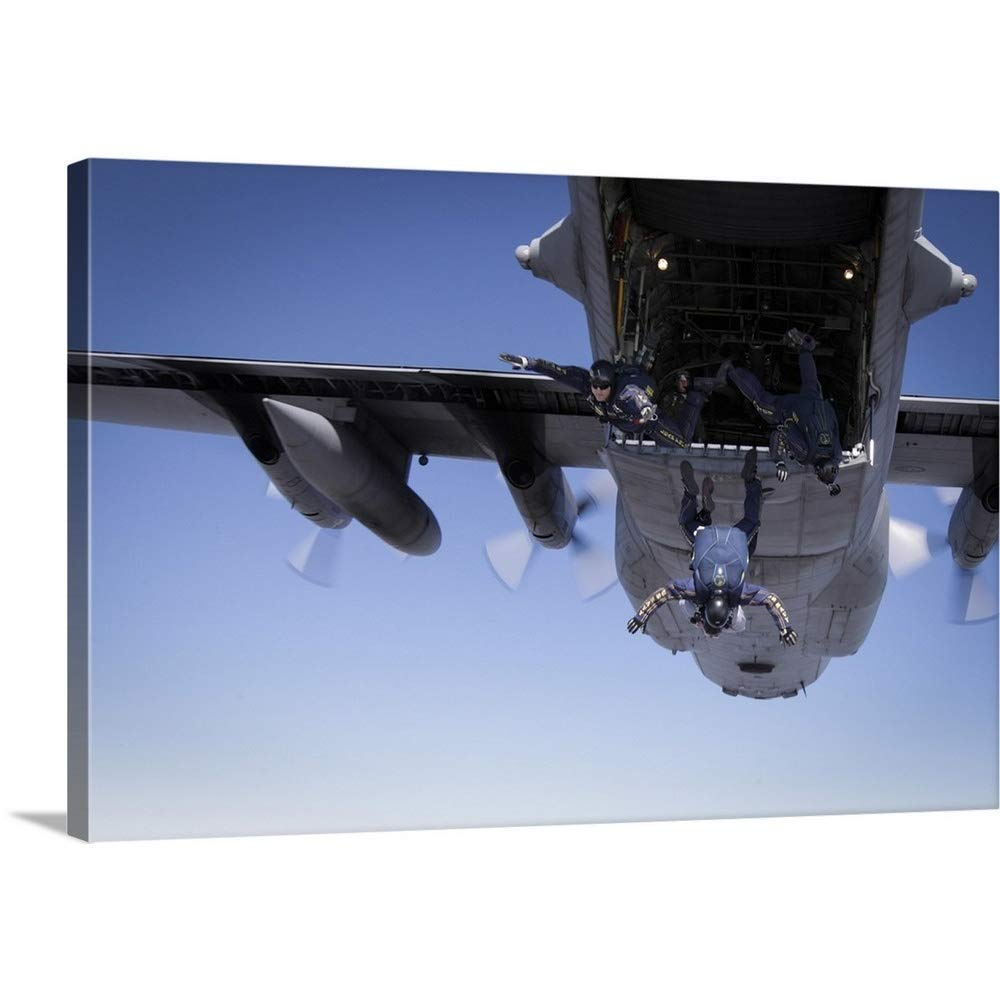 0a2a4b8d790 Get Quotations · Gallery-Wrapped Canvas Entitled U.S. Navy Parachute Team