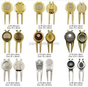 Best seller Metal Magnetic Promotional golf divot Tools with ball marker and clip
